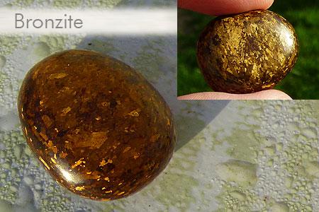 Quelques jolies pierres pas courantes... de ma collection Bronzite