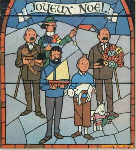 """Le Noël de Tintin, en un temps où la ferveur religieuse était plus importante que la ferveur """"acheteuse"""". Tintin%20JOYEUX%20NOEL"""