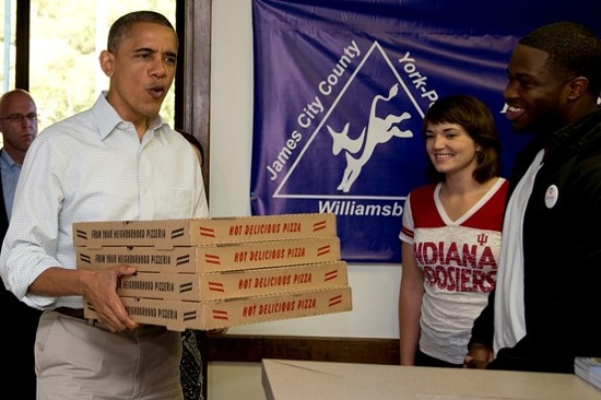 Friday Afternoon Pizza Party! Obama-pizza