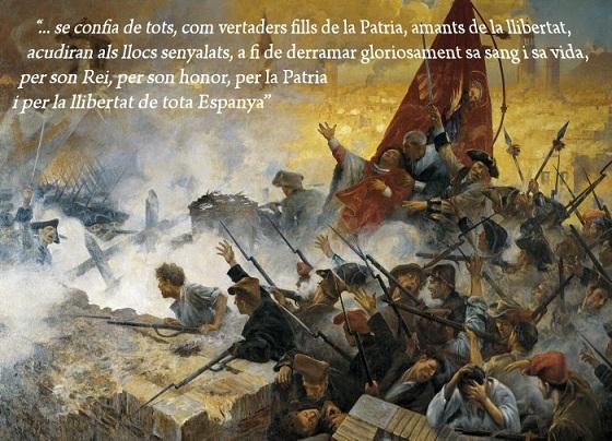 Con la Diada de Catalunya, termina la Guerra de Sucesión . DIADA%20%20BATALLA%20BARCELONA