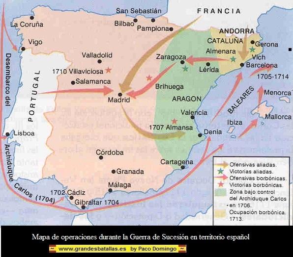 Con la Diada de Catalunya, termina la Guerra de Sucesión . DIADA%20%20MAPA%20%20DE%20OPERACIONES