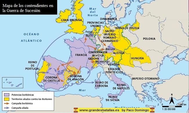 Con la Diada de Catalunya, termina la Guerra de Sucesión . DIADA%20%20MAPA%20ALIADOS