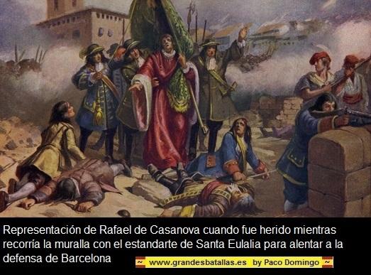 Con la Diada de Catalunya, termina la Guerra de Sucesión . DIADA%20CASANOVAS%20MURALLA
