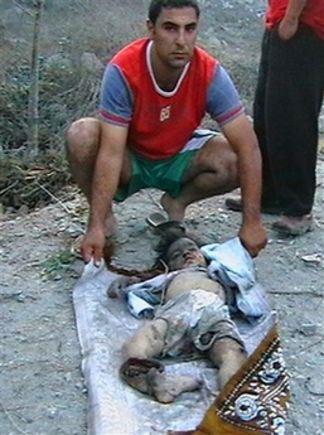 طفلة اسرائيلية تكتب رسالة على الصاروخ لأطفال فلسطين ولبنان Genocide99