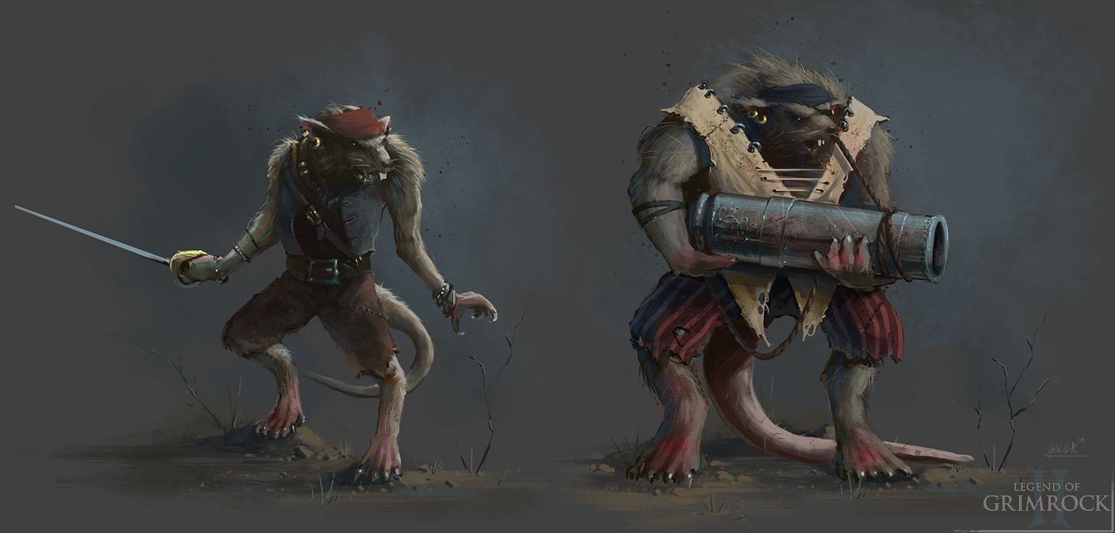 RPG old school : Dungeon Master, Eye Of Beholder, Grimrock.. - Page 2 Ratlings_concept_art