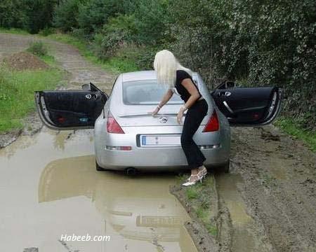αστειες φωτογραφιες Blonde_and_mud