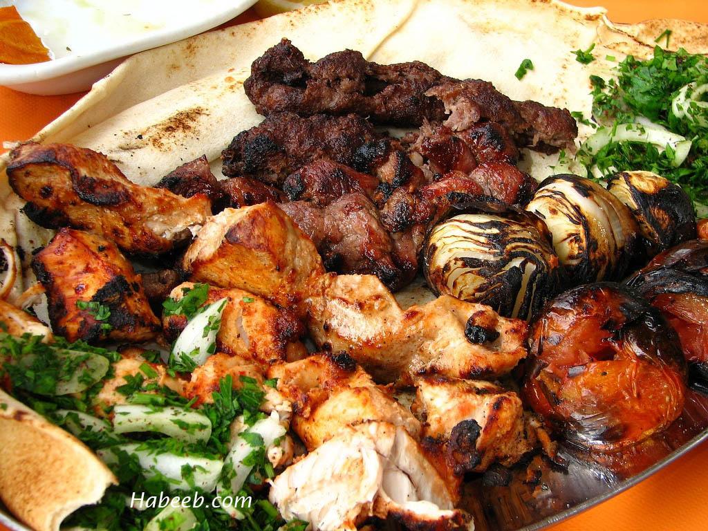 حلويات جزائرية وبشكل جديد (بالصور ) Lebanese_food_lahm_mashwi_154654