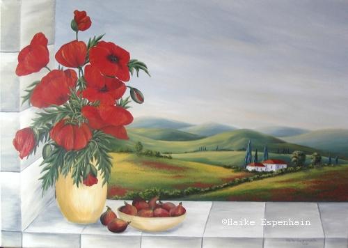 Omiljena slikarska tema Makovi Fenster%20mit%20mohn500
