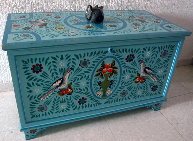 الصناعة التقليدية التونسية Meuble_peint_artisanat_tun