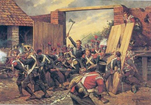 Happy Waterloo day ! Battle_of_waterloo_french_entrance_hougoumont