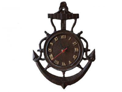 நேரம் பழையதாகிவிட்டது  - Page 2 Rustic-vintage-wall-clock-ship-wheel-anchor-decor