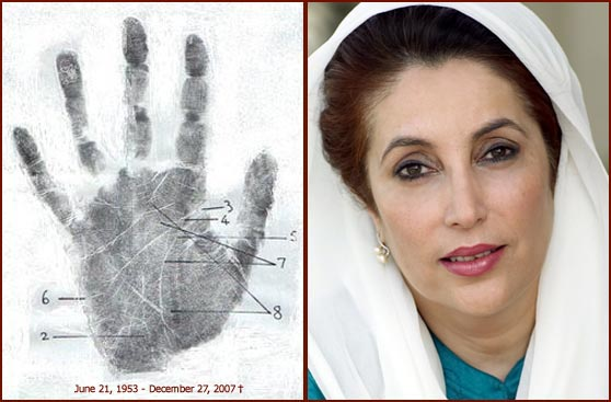 Any Body Can Give Any Answer For This (length life line) Benazir-bhutto-palmprint