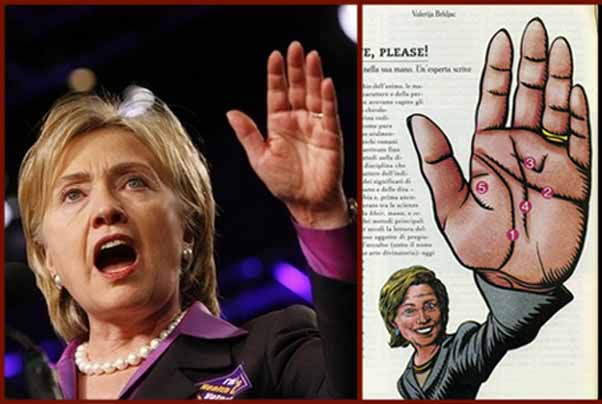 Crisis... will the next US president have a simian line? Hillary-clinton-hand