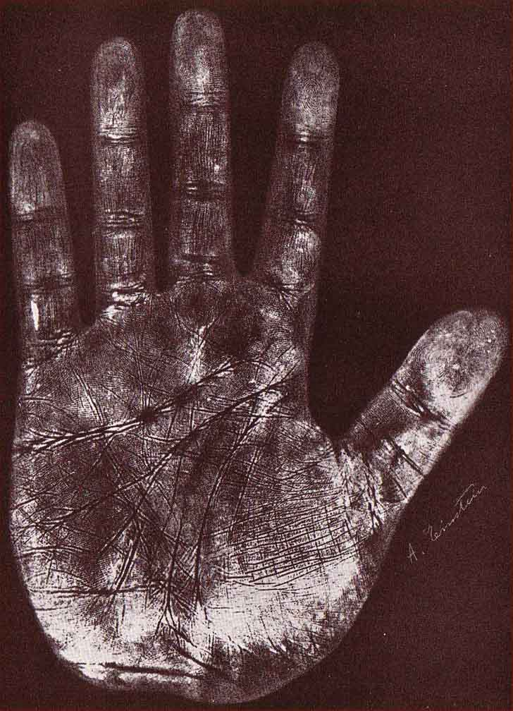 The hands of Albert Einstein - person of the 20th century Albert-einstein-left-handprint