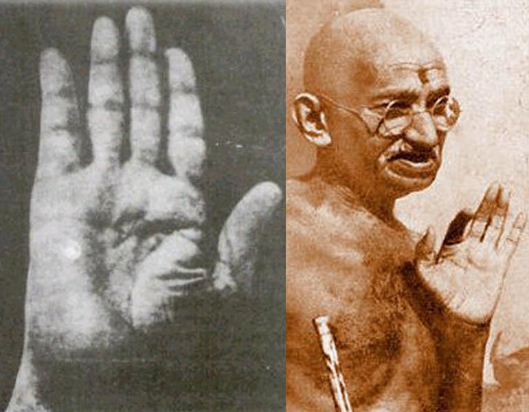Mahatma Gandhi (1869-1948) - spiritual leader of India Mahatma-gandhi-both-hands