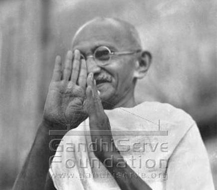 Mahatma Gandhi (1869-1948) - spiritual leader of India Mahatma-gandhi-right-hand