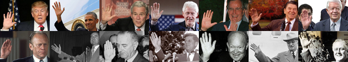 The hands of 10 US presidents! 14-us-presidents-right-hands