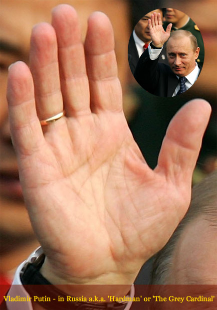 Any comments on Mr. Putin's hand? Vladimir-putin