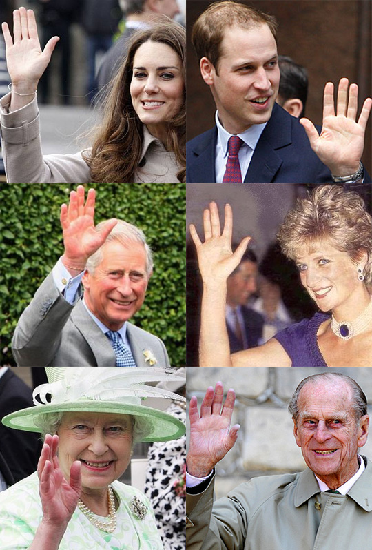 ROYAL HANDS - Prince William & Kate Middleton vs Prince Charles & Lady Diana! William-kate-charles-diana-elizabeth-phillip2