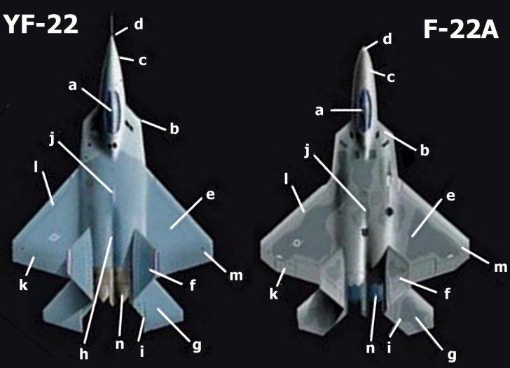 كيف يمكننا مواجهة F35 الاسرائيليه و F22 الامريكيه  - صفحة 4 YF-22_F-22_comp