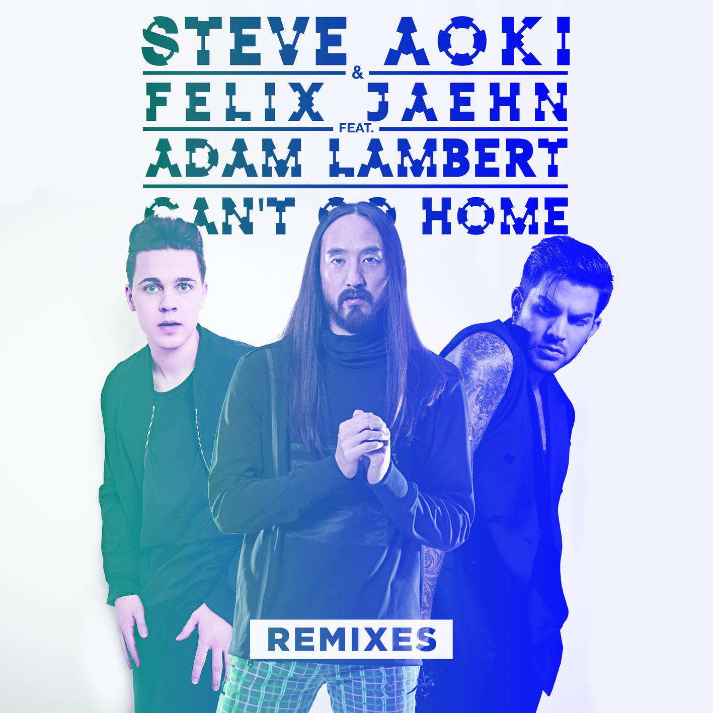Steve Aoki & Felix Jaehn Ft. Adam Lambert - Can't Go Home Remixes [ULTRA RECORDS] UL8086