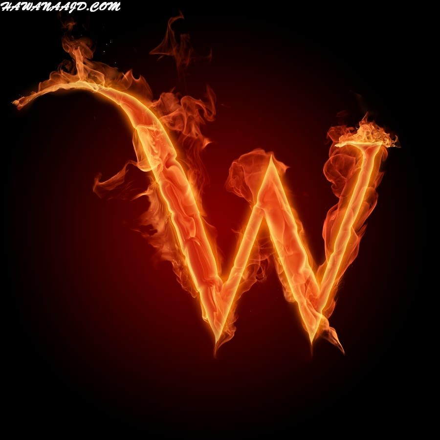 حروف بالنار W