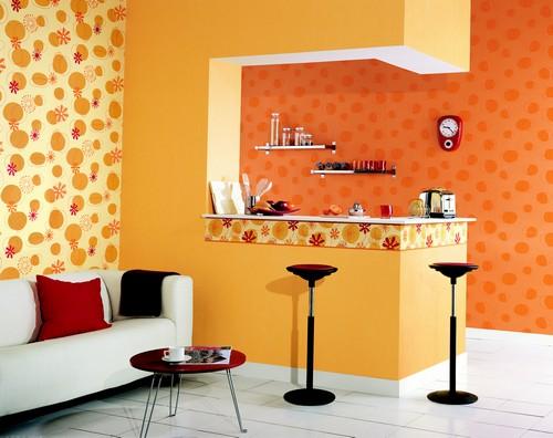 ديكورات باللون البرتقالي بدرجاته لعشاق الاختلاف وتداخله مع الالوان  32231hayah