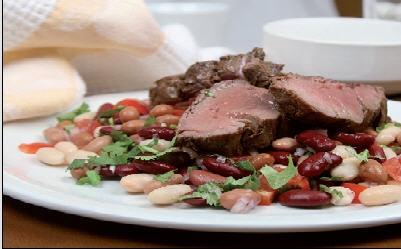 لحم الغنم المشوي مع سلطة الفاصوليا 36139hayah