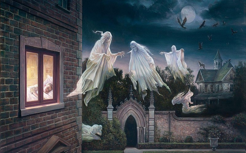Buenas noches Ghostly-night-wallpaper-73108