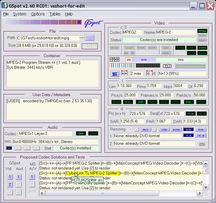 CODEC :o) GSpot260RC01