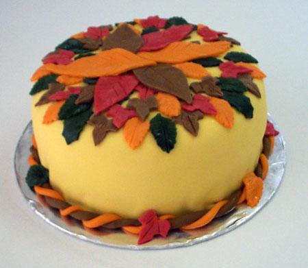 صور كيكات روعة ادخلو Autumn%20leaves%20cake