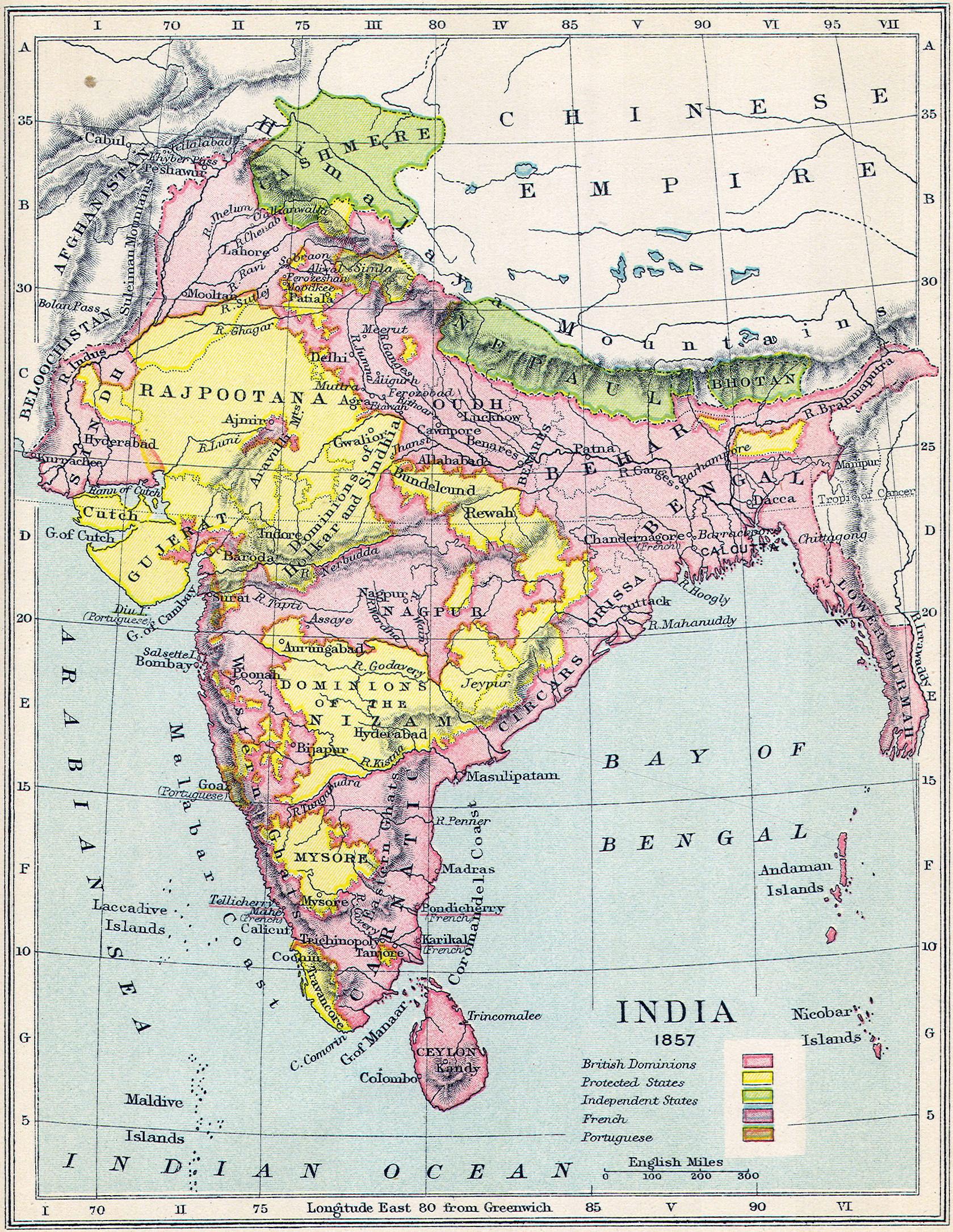La rebelión de los cipayos de 1857, conocida también como El motín de los cipayos Gard061