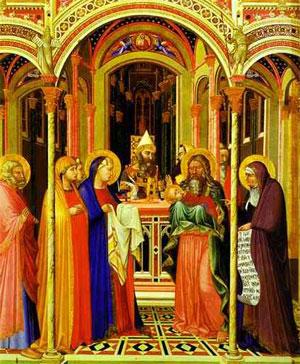2 Février : C'est sa fête : La Chandeleur. Lorenzetti