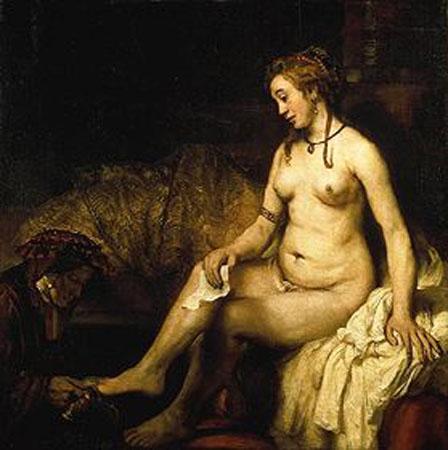la plus belle peinture hollandaise de femme nue RembrandtBethsabee