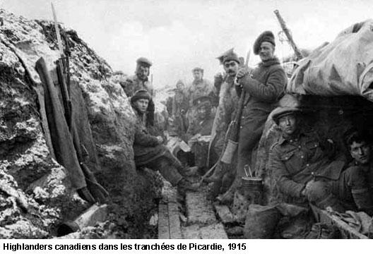 EN BREF :  1914-1918 - La Grande Guerre ou Première Guerre mondiale par André Larané 1418highlanders