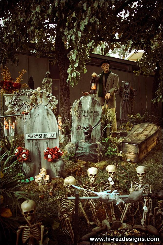 """Ты туда не ходи, ты сюда ходи!"" Хеллоуинские декорации Cemetery_day_02"