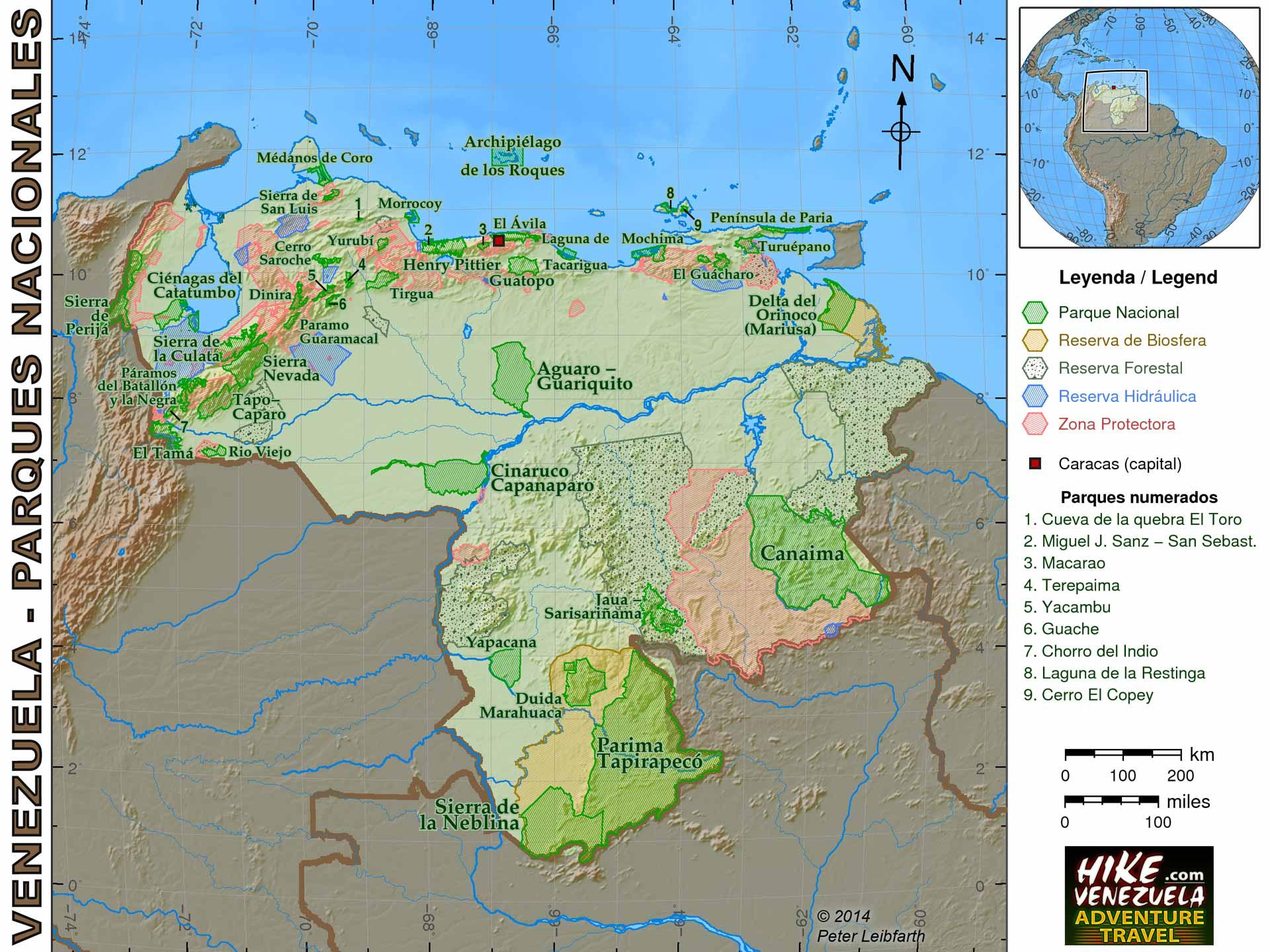 VENEZUELA Y SU DESARROLLO FRONTERIZO Map-venezuela-parks-1920x1440
