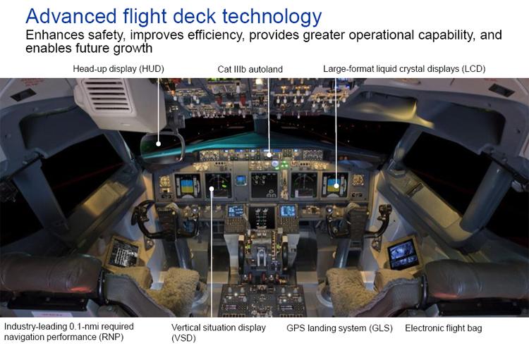 Boeing 737 ( avión de reacción de pasajeros de fuselaje estrecho de corto a medio alcance USA ) Flightdeck