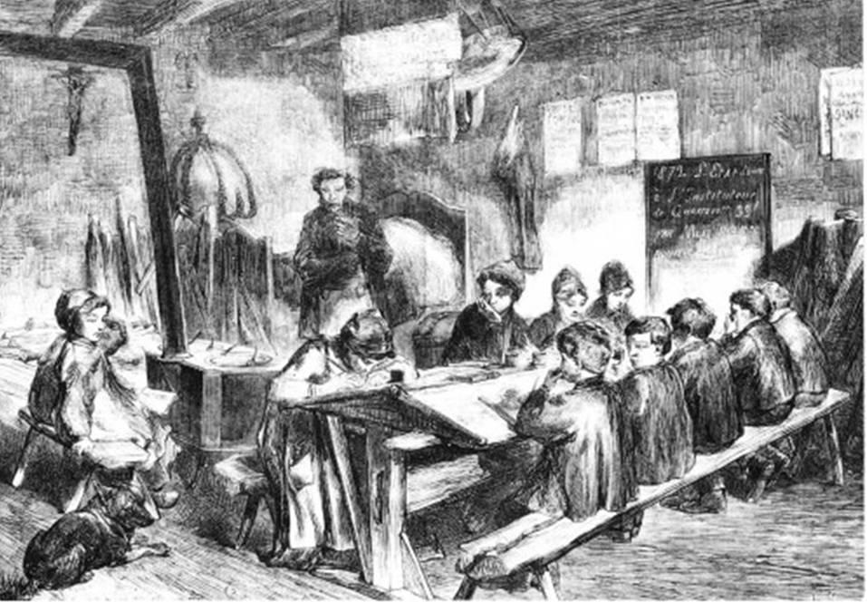 Historique de la disposition des bureaux en classe Classe-18e-PL-Potey_web