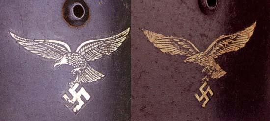 Немецкие стальные шлемы М35 Luftwaffe_eagle_dif