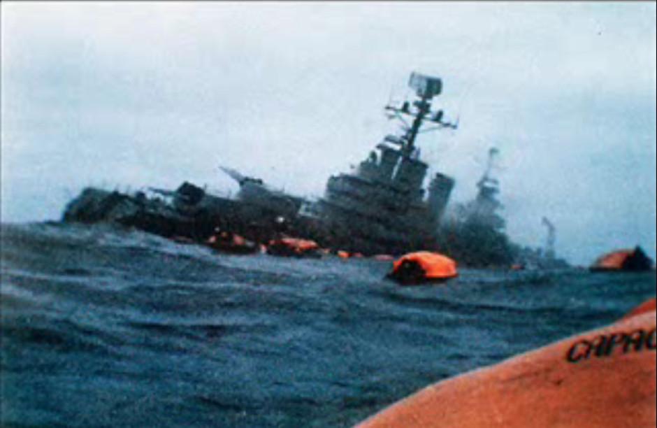 marine argentine Belgrano_Sinking
