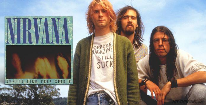 Nirvana - Smells Like Teen Spirit  Nirvana-Kurt-Cobain-Smells-Like-Teen-Spirit-696x355