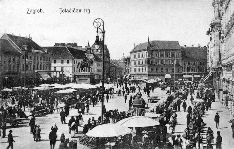 Povijest grada Zagreba - Page 2 23_Jelacic_trznica_1915