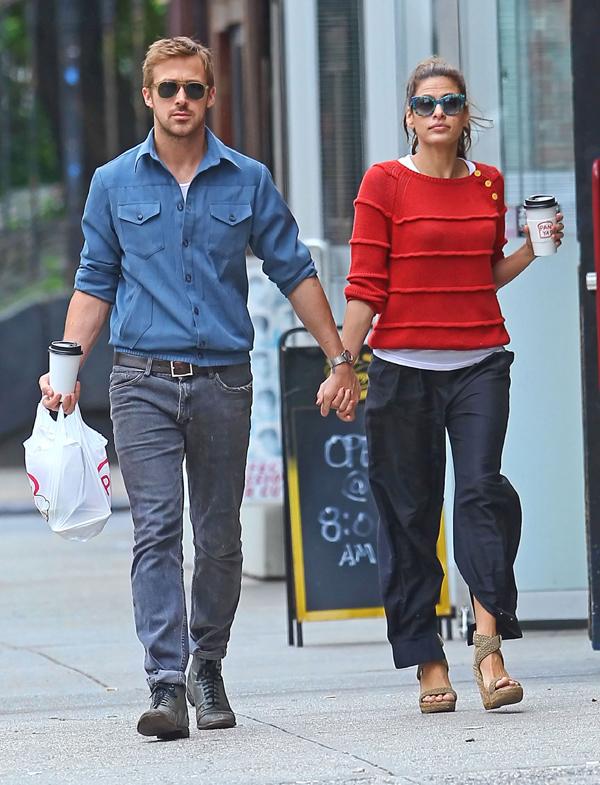 ¡Sorpresa en Hollywood! Eva Mendes, embarazada de siete meses de Ryan Gosling Ryangosling-evamendes1-a