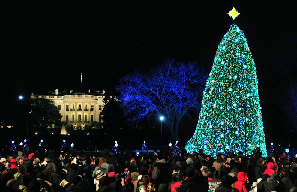 Las luces de Navidad que iluminan el mundo Navidad-washington--a