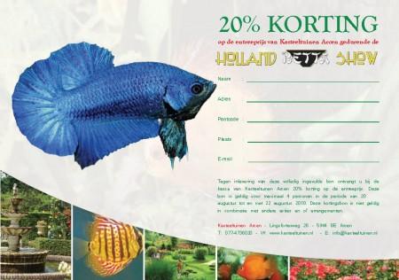 Bettas4all presents The Holland Betta Show 19-21 August 2011 HKS2010-kortingsbonBetta_450