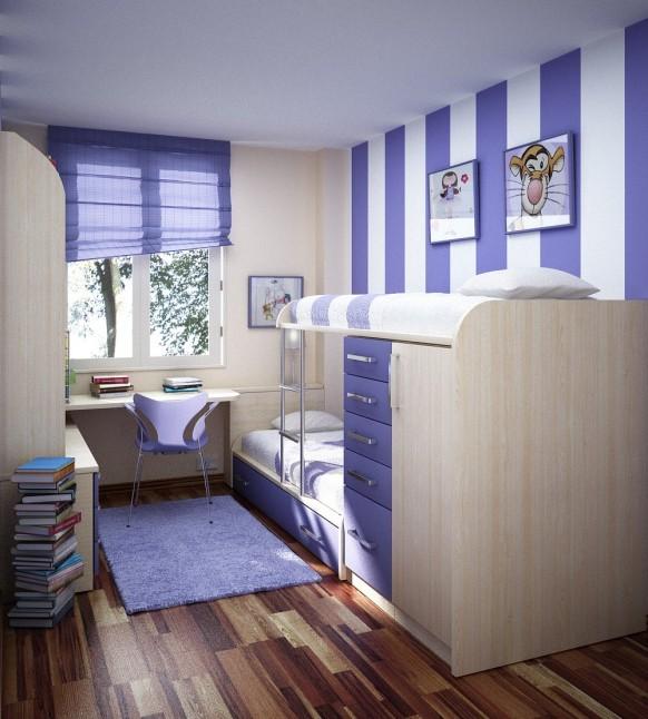 غرف نوم أطفال متنوعة Childrens-room-1-582x646