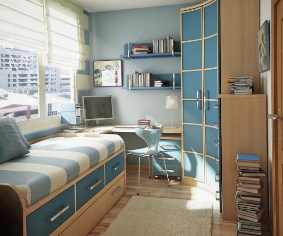 غرف نوم أطفال متنوعة Childrens-room-3-582x485