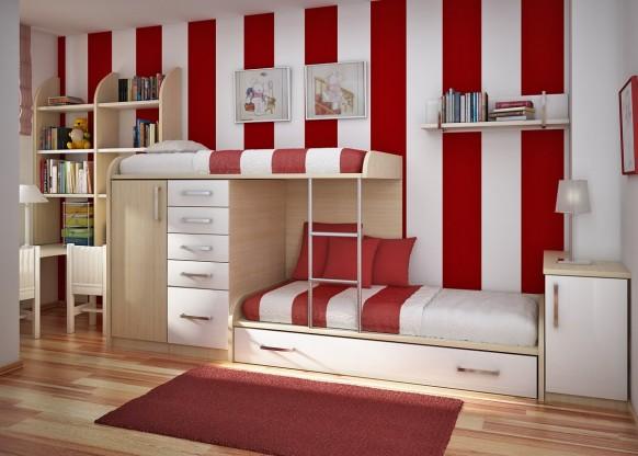 غرف نوم أطفال متنوعة Childrens-room-4-582x416
