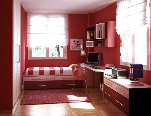 غرف نوم أطفال متنوعة Childrens-room-5-582x447